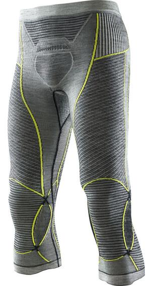 X-Bionic Apani Merino Fastflow Ondergoed onderlijf Heren geel/grijs